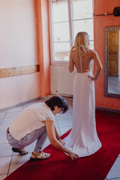 Essayage d'une robe de soirée Lyon, robe de cocktail Lyon